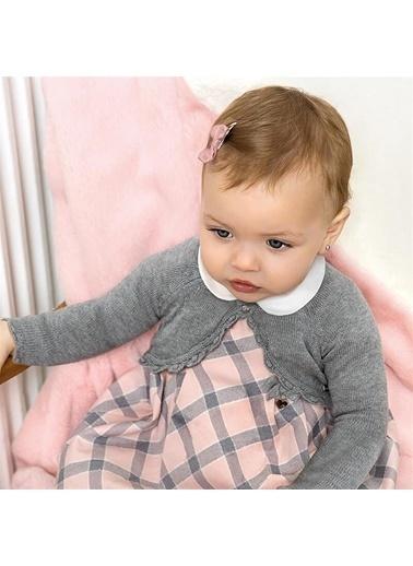 Mayoral Mayoral Yenidoðan Kız Bebek Triko Bolero Gri